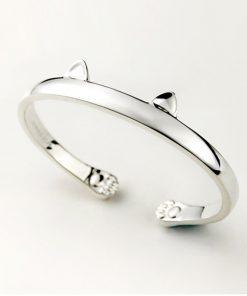 Kattig maar eenvoudig zilveren armband