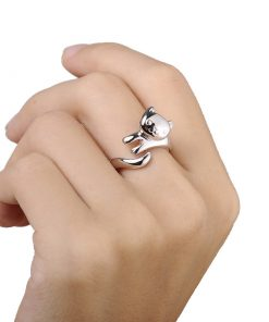 Shiny cat ring