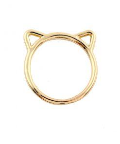 """Minimalistische ring """"Kattenkop"""" (3 kleuren)"""