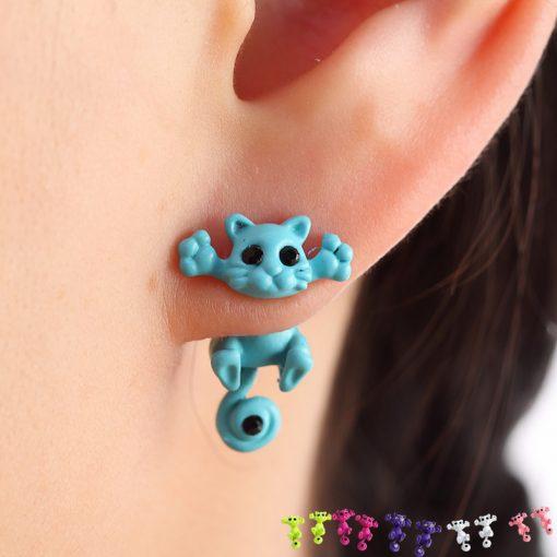 Grappige poes oorbellen (10 kleuren)