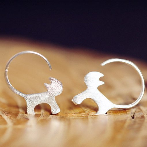 """Zilveren """"Kattenstaart"""" ringen (925 Sterling Silver)"""