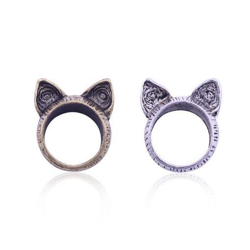 Vintage kattenoren ring