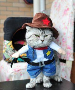 "KattenPret.com ""Cowboykostuum"" voor kat"